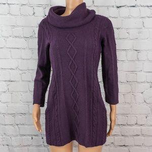 Cynthia Rowley purple sweater tunic